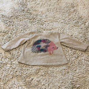 💛 3/$25 💛 Tea Hedgehog Long Sleeve T-shirt